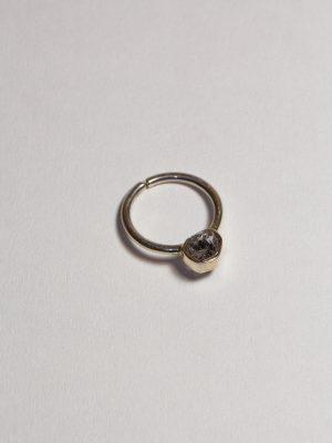 Transparencia - Anillo en plata 950 y cuarzo herkimer