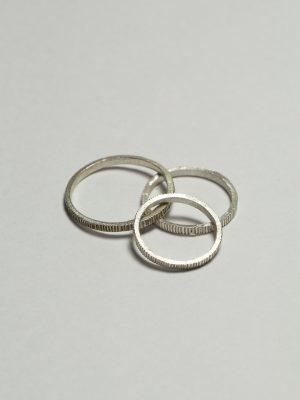 Lineal - Anillo en plata 925