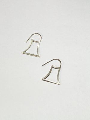 Lineal Rectángulo - Aretes en plata 925