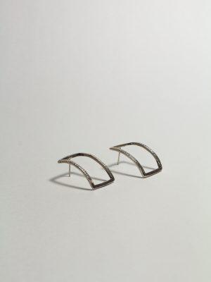 Cuadrado - Aretes en plata 925