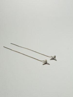 Diente Tiburon - Aretes colgantes en plata 925