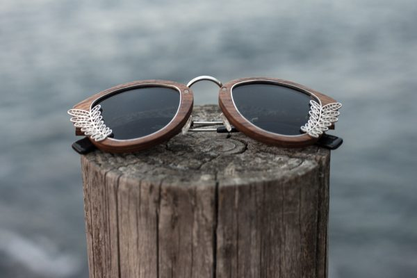 Pascana - Lentes de sol unisex madera y plata