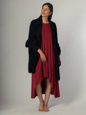 Belted Coat Short - Abrigo de alpaca