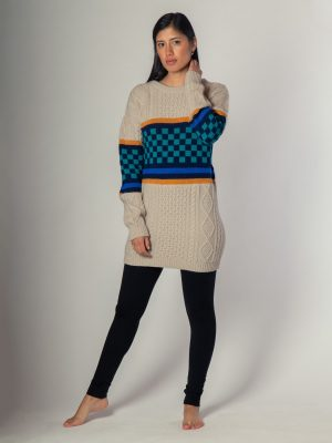 Checkered - Sweater de alpaca