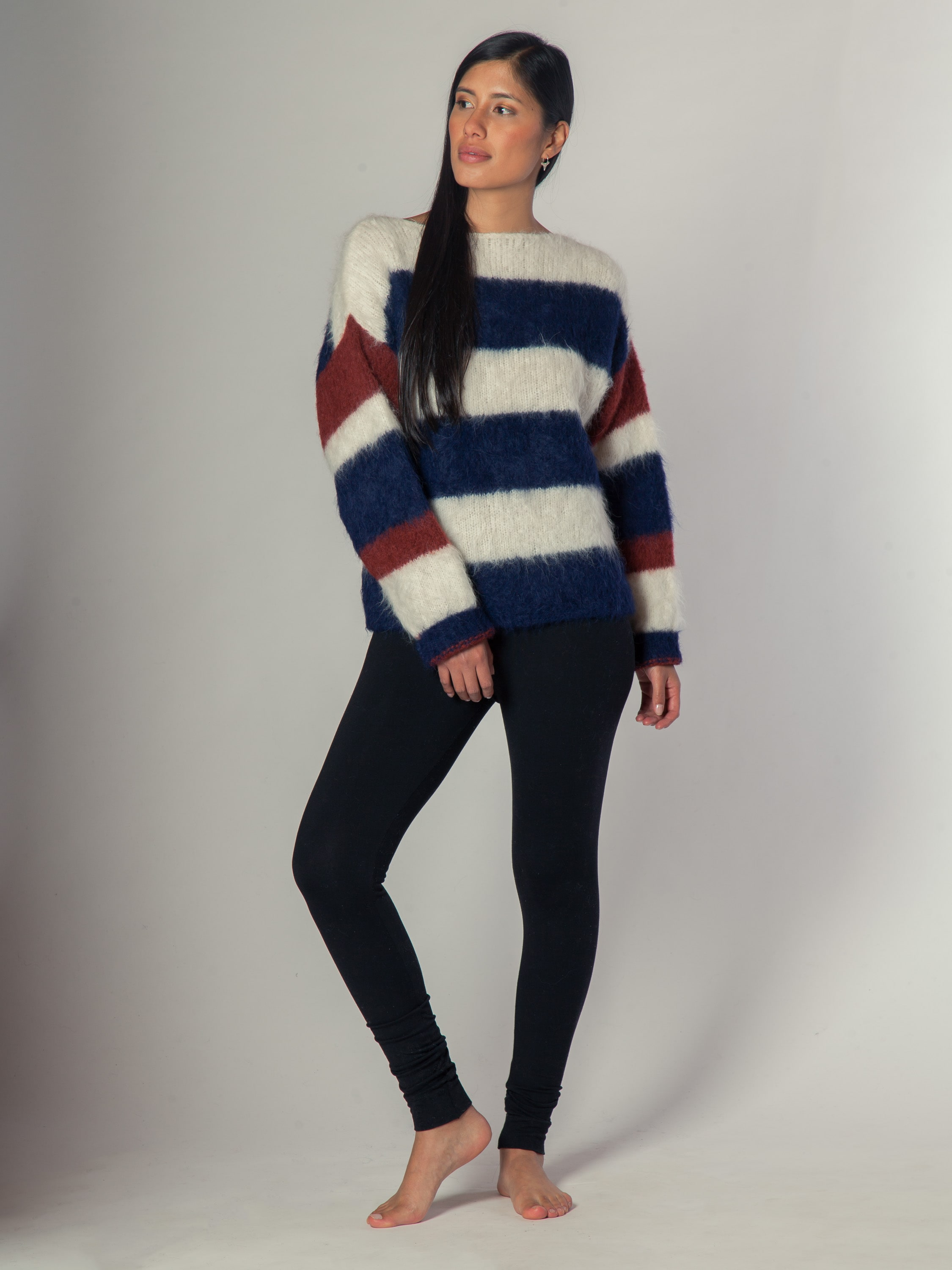 Striped Sweater - Sweater de alpaca
