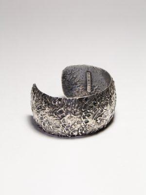 Allqamarinayuq - Brazalete plata quemada 925