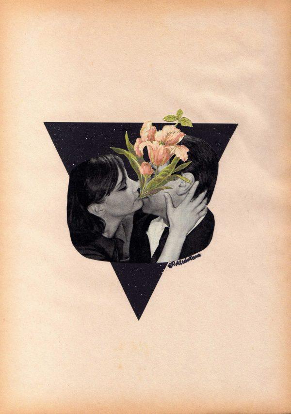 """""""Un Beso Y Una Flor"""" - Collage original"""